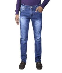 Ragzo Mens Slim Fit Jeans Pack Of 2 With Free 1 Pair Of Socks (RI250531), blue, 36
