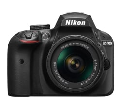 Nikon D3400 DSLR (with AF-P 18-55mm VR Kit Lens)