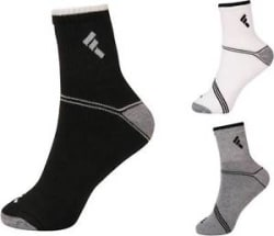 Details about New 3 Pairs Mens Crew Athletic Ankle Cushion Sports Socks Black White Grey Socks