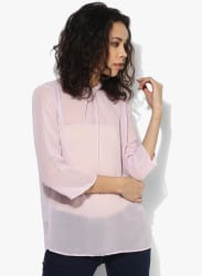 Lilac Solid Blouse
