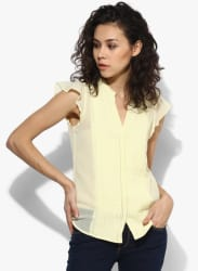 Yellow Solid Blouse