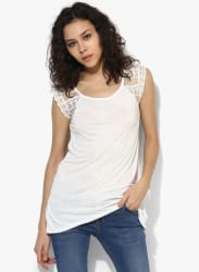 White Solid Blouse