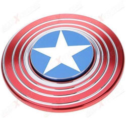 Super Deal Bazzar Store Captain America Metal Hand Spinner Fidget Stress Reducer Anti Anxiety for Children / Adults - 205 (Multicolor)