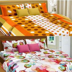 Cortina Premium Set Of 2 Bed Sheet (PRDP-046), multicolor