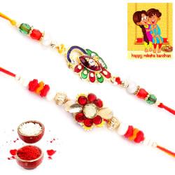 Halowishes Rakshabandhan Ethnic Handcrafted Fancy Rakhi Pair Gift