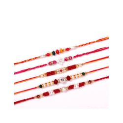 Dream Shopping Network Set Of 5 Beaded Thread Rakhis