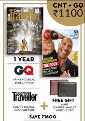 GQ+ Conde Nast Traveller (English 1 Year) (Print+Digital)