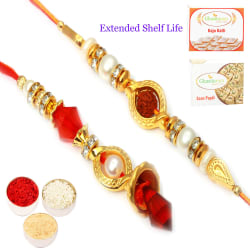 Punjabi Ghasitaram The Circle Of Trust Bhaiya Bhabhi Rakhi, rakhi set with 200 gm of soan papdi