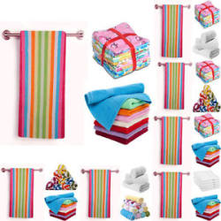 Details about  Dream Decor Combo - 1 Super soft cotton Bath Towel + 12 Face Towels