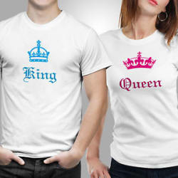 Details about iberrys-Couple Tshirts DryFit Polyester- King & Queen