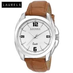 Laurels Diplomat White Dial Men Watch (Lo-Dip-301)