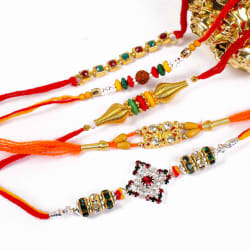Giftacrossindia Fantastic Five Rakhis For Brothers