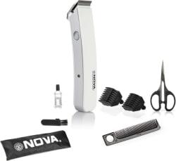 Nova NHT 1047 W Corded & Cordless Trimmer for Men (White)