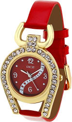 Dice Women s Analogue Red Dial Watch - SUPG-M018-5254