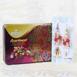 Giftacrossindia Vochelle Assortment Chocolate Box With Lumba Rakhi