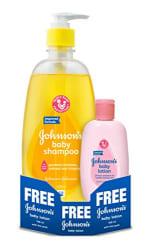 Johnson s Baby Shampoo (475ml) with Free Baby Lotion (100ml)