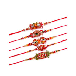 Dream Shopping Network Traditional Set Of 5 Rakhis