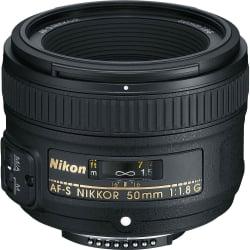 Nikon AF-S NIKKOR 50mm f/1.8G Lens,black