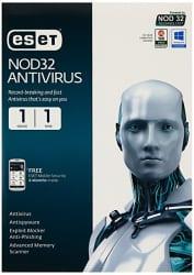 ESET NOD32 Antivirus 1 PC, 1 Year CD
