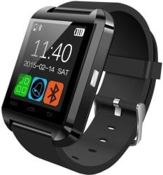 Bingo U8 Smartwatch (Black Strap Regular)
