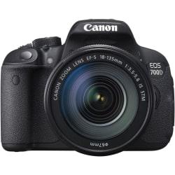 Canon EOS 700D DSLR (With EF S18-135 IS STM Lens), black
