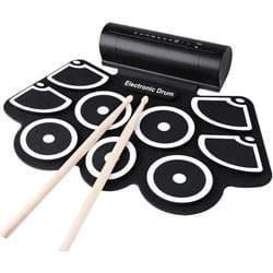Konix Roll Up W760 Drum Kit (Black)