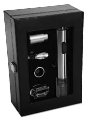 Oster FPSTBW8055 Wine Kit with Stainless Steel Wine Opener (Black)