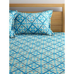 Bombay Dyeing 140 Tc Geometric Bedsheet With Two Pillow Cover