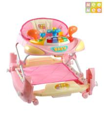 Mee Mee Baby Joyful 2 In 1 Foldable Baby Walker_Pink