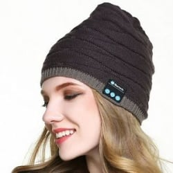 BT01 Warm Bluetooth Beanie Wireless Headphone Hat Mic Hands Free
