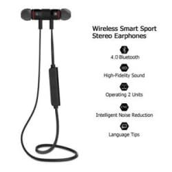 Details about  XT 6 Wireless Bluetooth Earphones Metal Magnetic Sports
