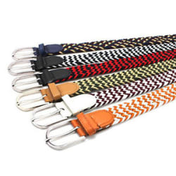 Details about  Unisex Braided Elastic Stretchable Cross Buckle Casual Belt Free Size Up to 30\