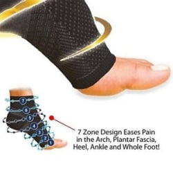 Details about New Ankle Unisex Compression Foot Angel Sleeve Arch Heel Pain Relief