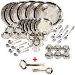 Kitchen Pro 42 Pcs Stainless Steel Dinner Set (Multicolor)
