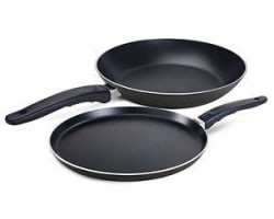 Details about Non Stick Flat Tawa 235 mm With Free Fry Pan 205 mm