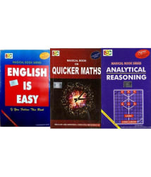Magical book on quicker maths, English is Easy & Analytical Reasoning Combo Pack