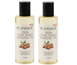 ST. D VENCÉ 100% Pure Sweet Almond Coldpressed Carrier Oil (Almond Oil, 100 ml (Pack of 2))