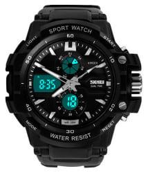 Skmei Black Rubber Analog-Digital Watch