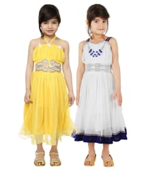 Tiny Toon Pack of 2 Party Wear Dresses For Kids