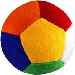 Casotec Stuffed Soft Toy Plush Ball - 11 cm (Multicolor)