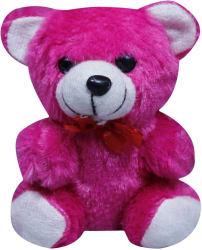 Casotec Cute Teddy Bear Stuffed Soft Plush Soft Toy - 14 cm (Hot Pink)