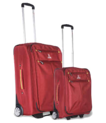 Swiss Military Red Set of 2 Medium & Small Check-in soft Luggage