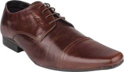 Red Tape Genuine Leather Lace Up Shoes For Men (Brown)