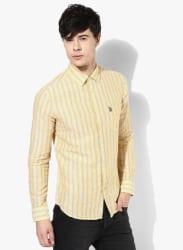 Yellow Slim Fit Casual Shirt