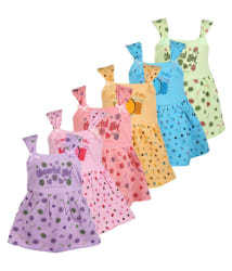 Weecare Multicolour Cotton Frock - Pack of 6