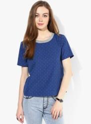 Blue Printed Blouse