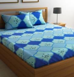 Flipkart SmartBuy 104 TC Cotton Double Abstract Bedsheet (1 Double Bedsheet and 2 Pillow Covers, Multicolor)