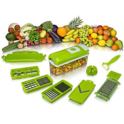 Details about  HIGH QUALITY Nicer Dicer Plus Vegetable Cutter Fruit Slicer Peeler WITH Manual