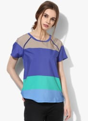 Multicoloured Striped Blouse