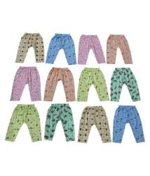 Peridot Credo Comfortable Multicolour Cotton Leggings - Pack of 12